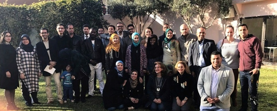 The Fondation Orient-Occident's team in the administrative center of Rabat