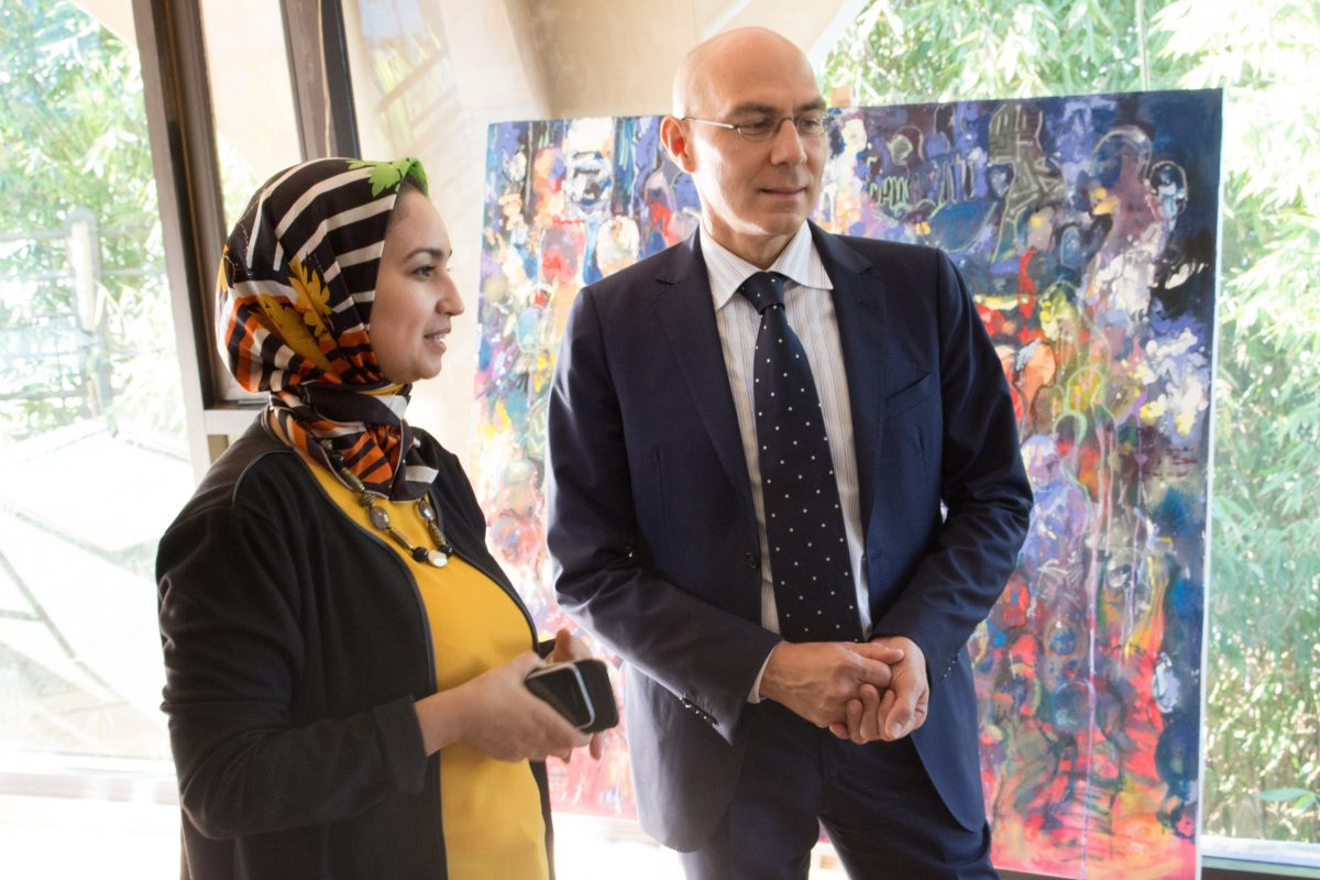 The United Nations High Commissioner for Refugees's visit to the Fondation Orient-Occident