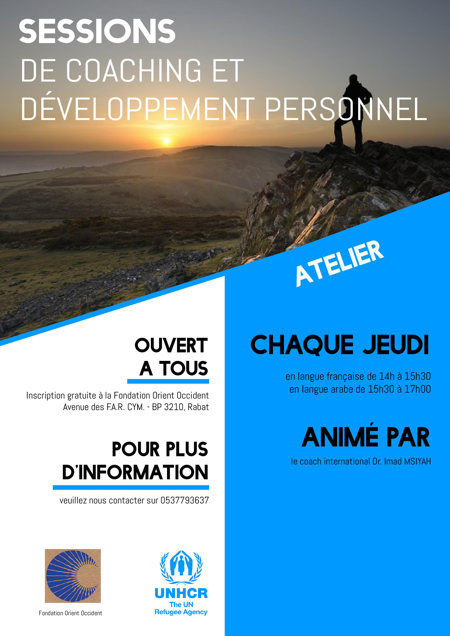 Personal Development and Coaching Sessions every Thursday at the Fondation Orient-Occident – Open to All