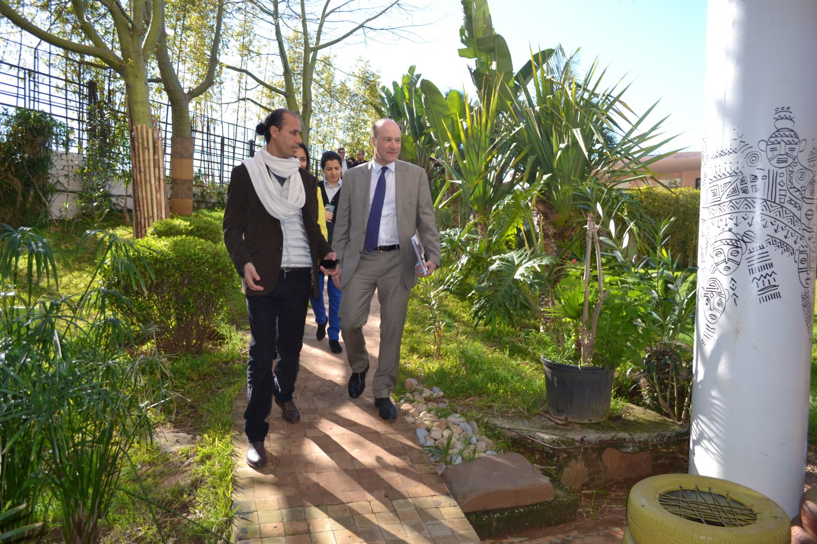 The British Envoy for Migration, Tim Cole, visits the Fondation Orient-Occident in Rabat – 19/03/2018