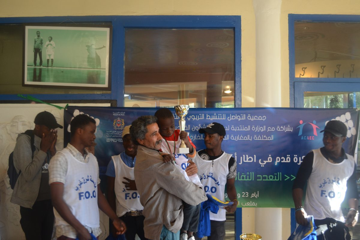 Ceremony of Award for the winning teams of the football tournament organized by the Fondation Orient-Occident, 23-25th of March 2018