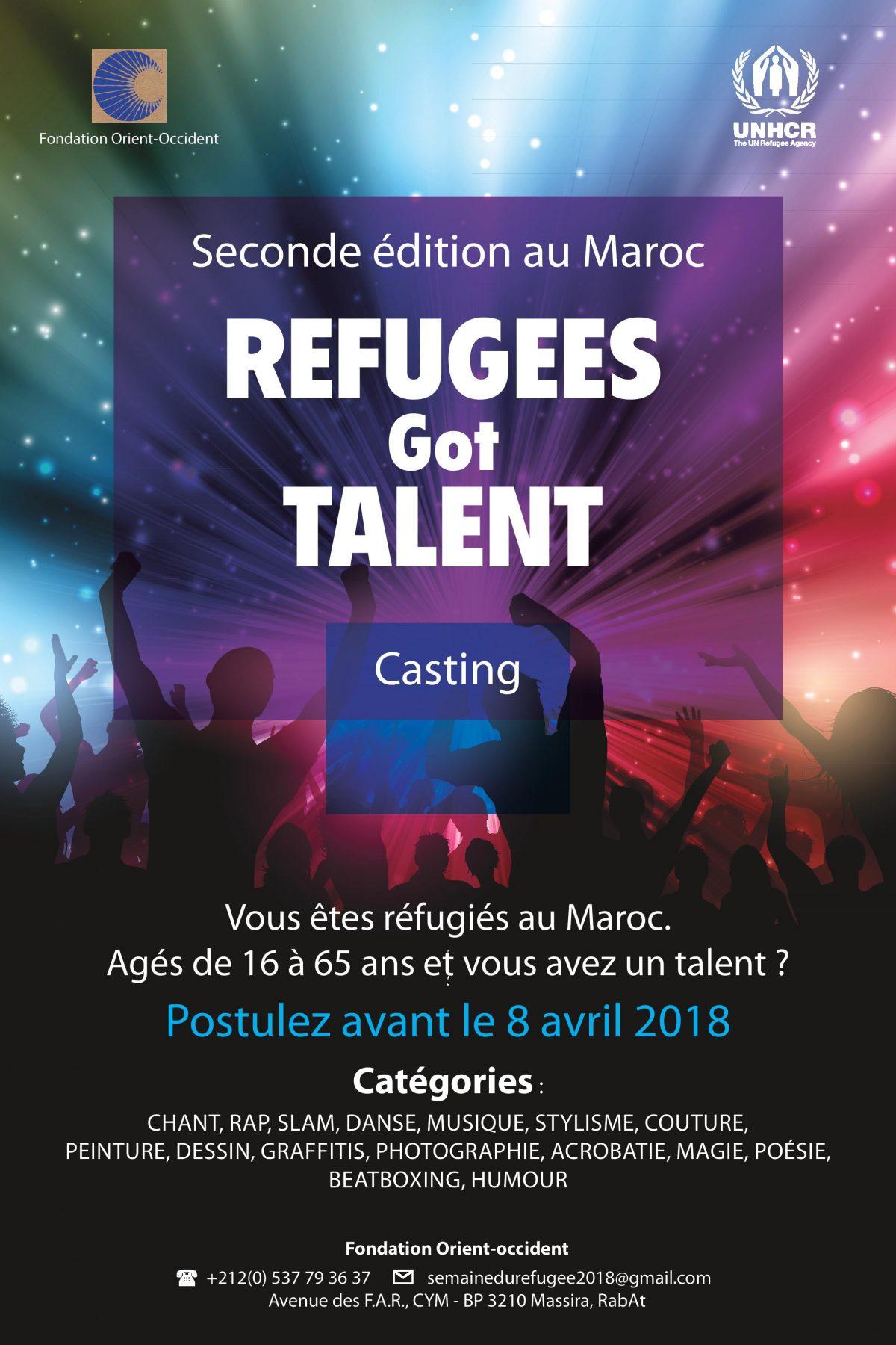 Refugees Got Talent - Casting - Fondation Orient-Occident