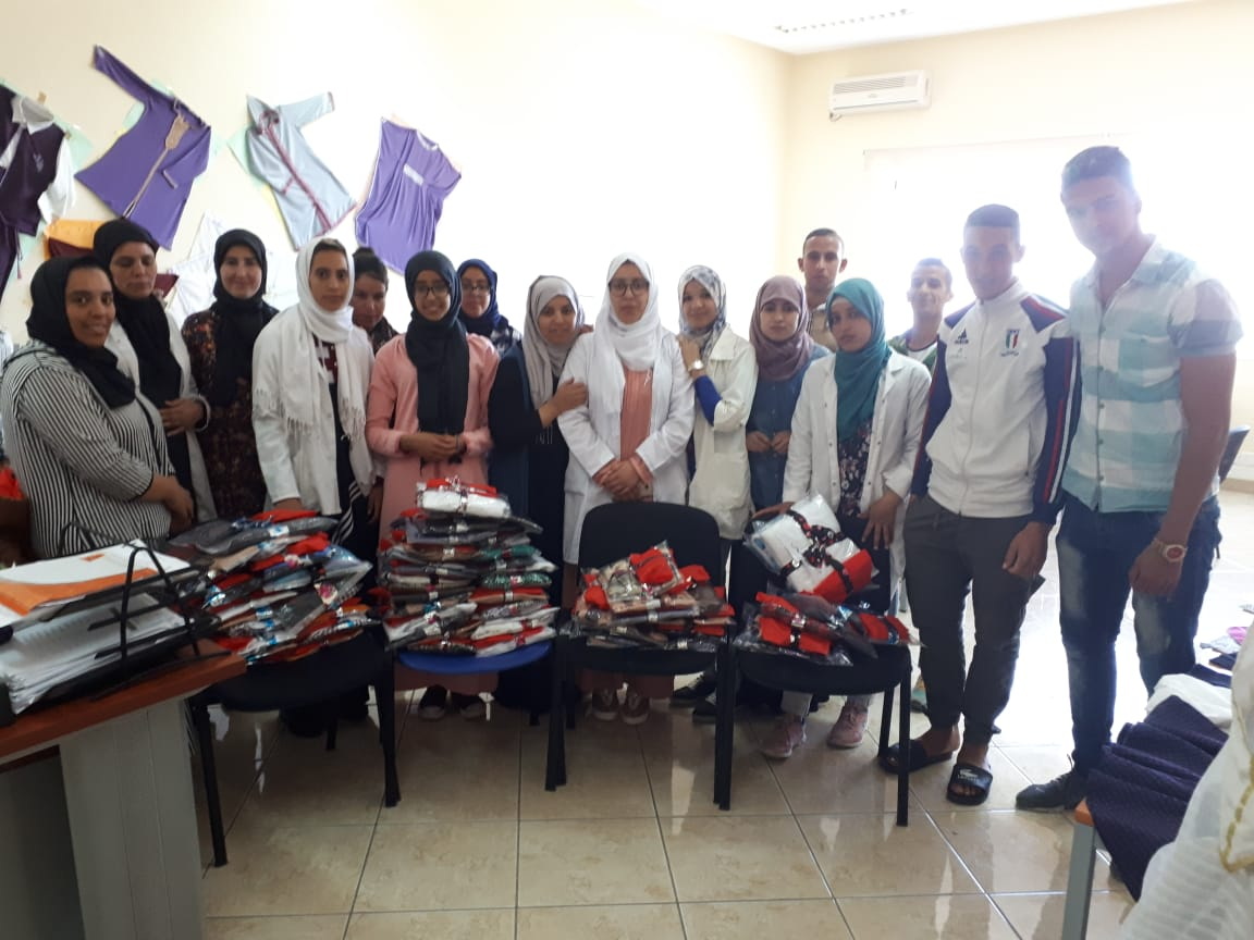 Creation of clothes for the Aid for abandoned kids in the neighborhood of Yousouffia in Rabat