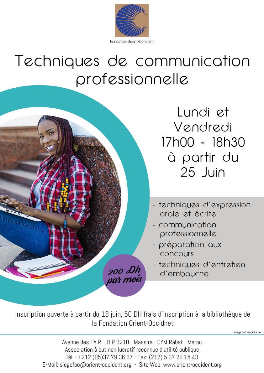 Techniques de communication professionnelle – from the 25th of June
