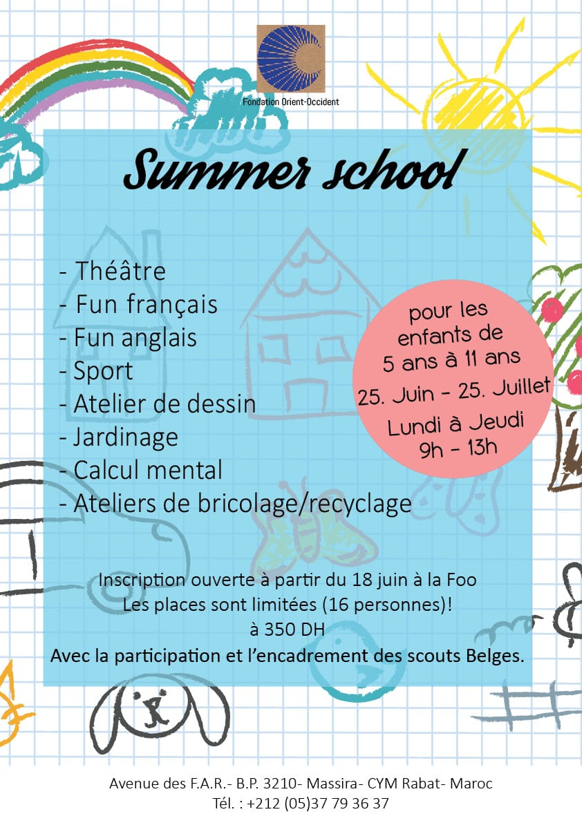 Summer School at the Fondation Orient-Occident – Planning and timetable