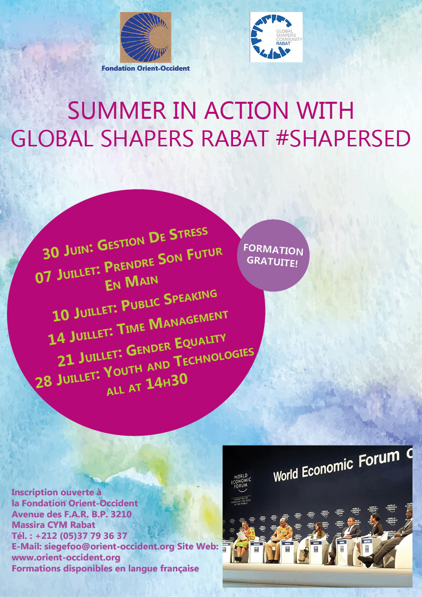 "Summer in action with ""The Global Shapers"" at the Fondation Orient-Occident!"
