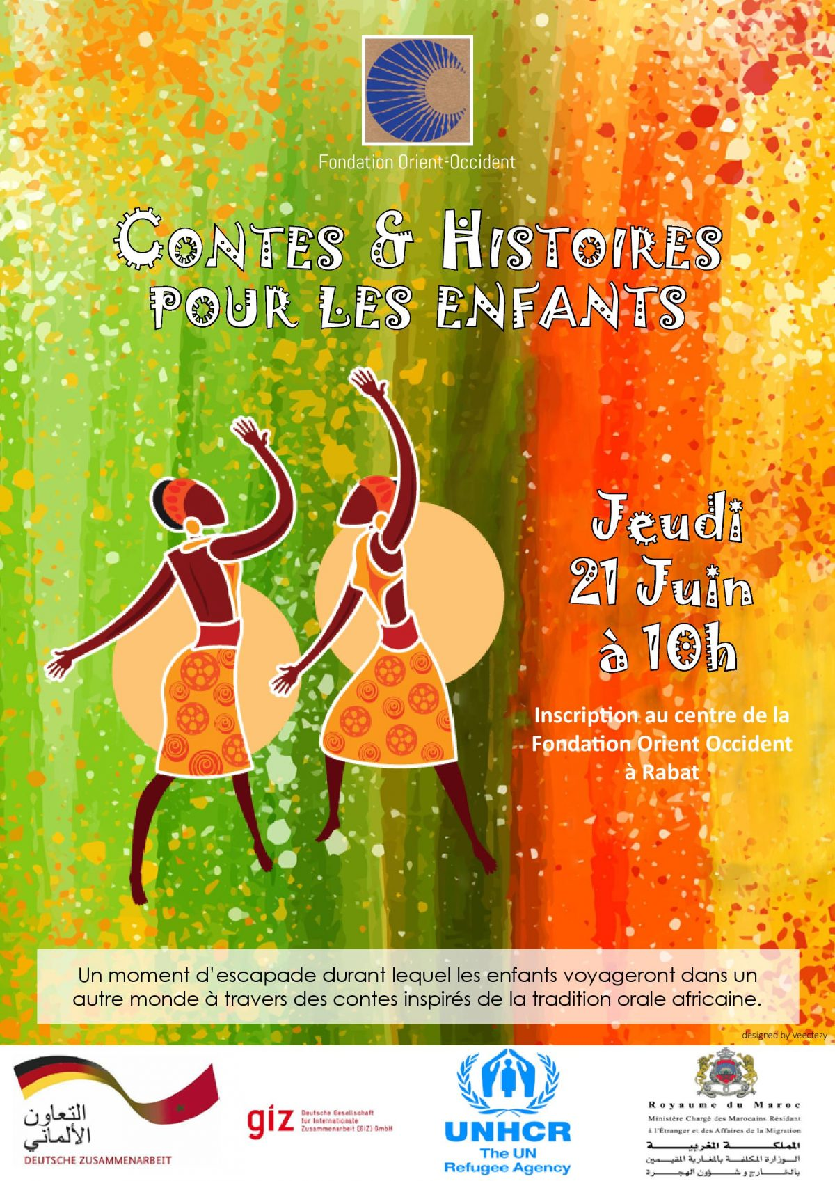 Tales and Stories for kids, the 21st of June at the Fondation Orient-Occident of Rabat! Come numerous!