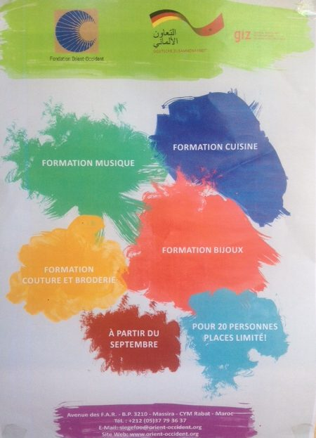 Trainings in several sectors from September at the Fondation Orient-Occident!