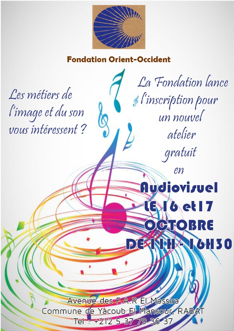 The Audiovisual workshop of the 16th and 17th October at the Fondation Orient-Occident – a small photoalbum