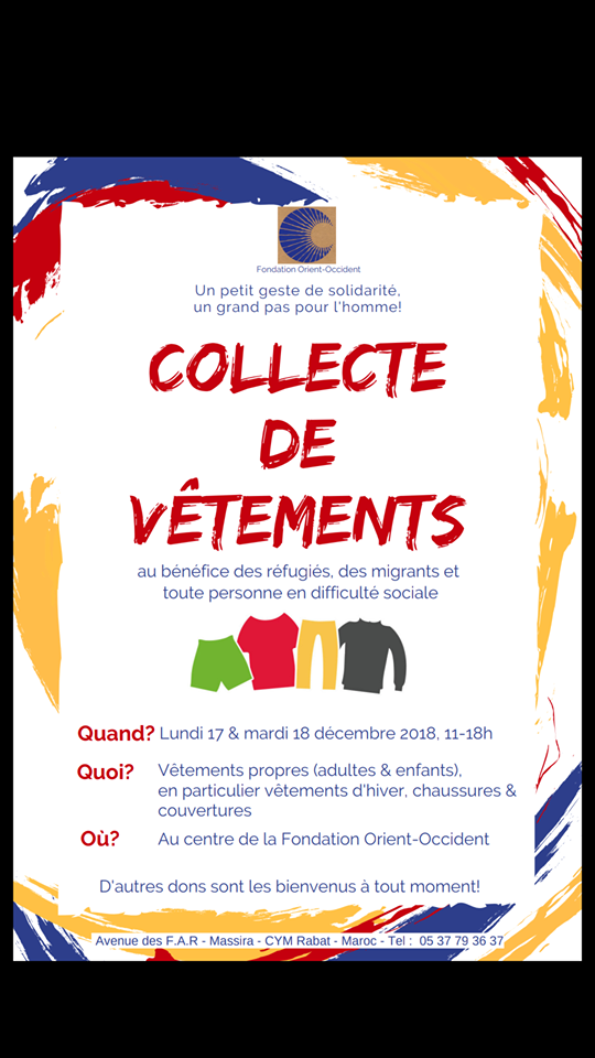 Clothes collection at the Fondation Orient-Occident