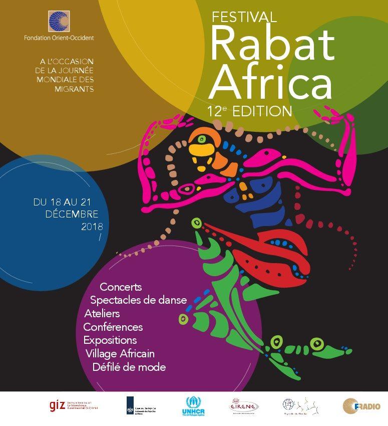 Nous sommes très heureux de vous inviter à la 12ème édition du Festival Rabat Africa du 18 au 21 Décembre! Consultez le programme ici et n'oubliez pas que l'entrée aux événements est gratuite