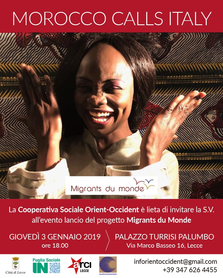 Launch of Migrants du Monde Italy on the 3rd of January in the city of Lecce