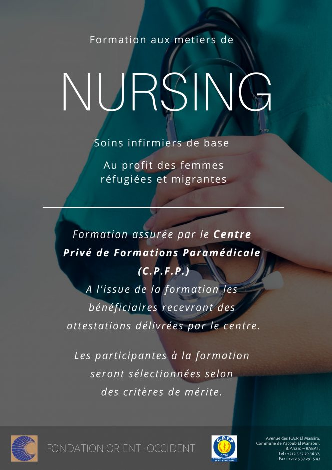 Nursing training for migrant and refugee women