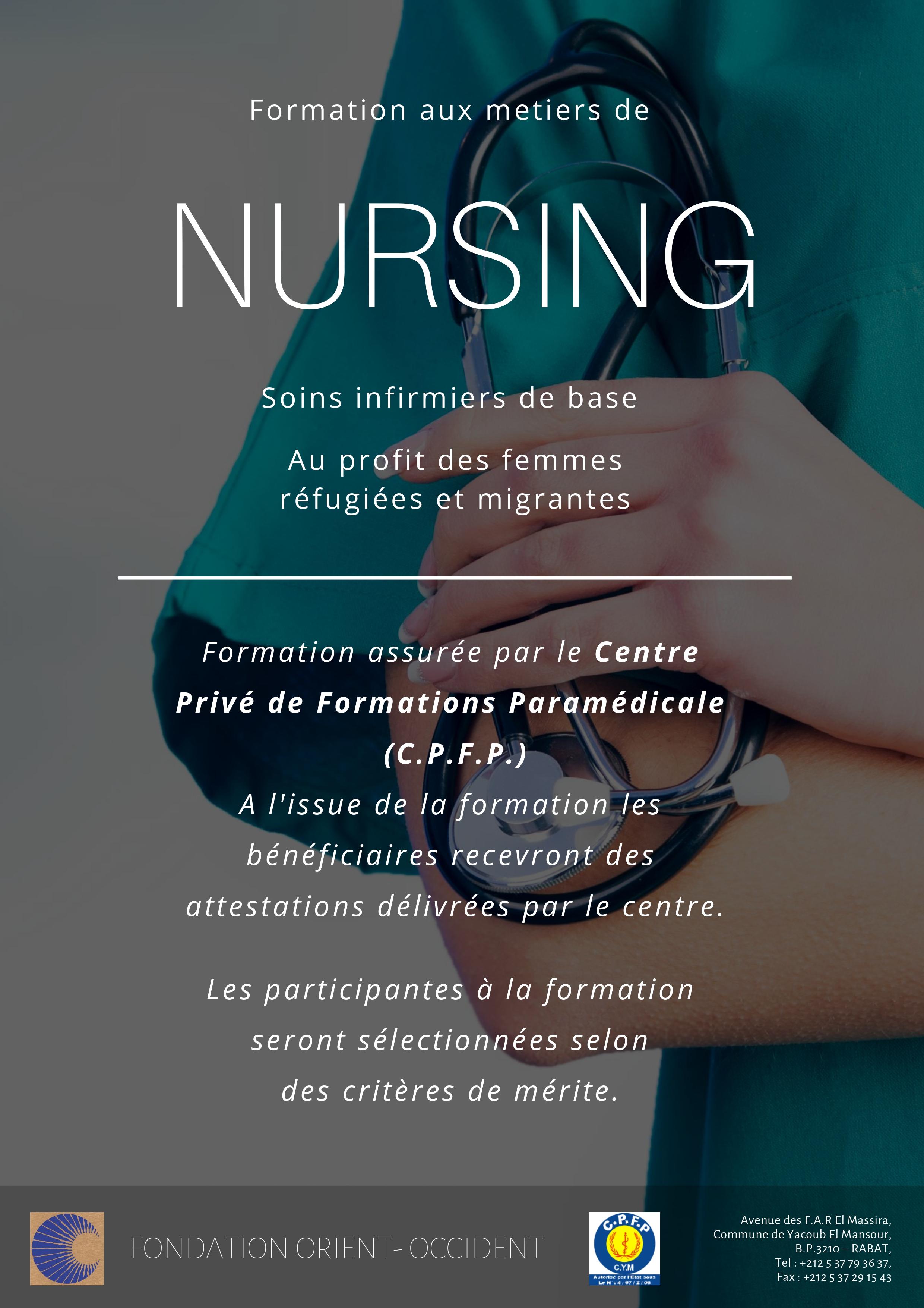 Formation aux metiers de nursing