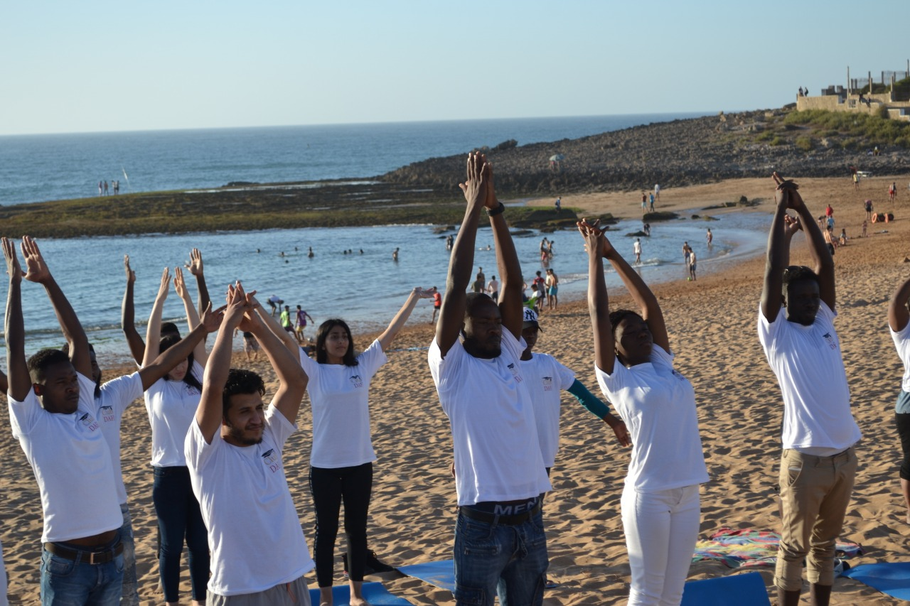Yoga class at the Fondation Orient-Occident of Rabat!