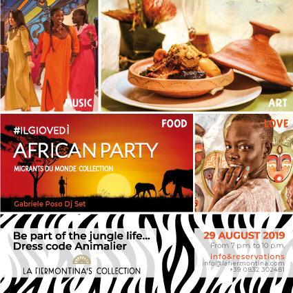 Taking place on Thursday the 29th of August in Italy, Lecce: African Party – organized by the Social Cooperative Orient-Occident (Italian entity of the Moroccan Fondation Orient-Occident).