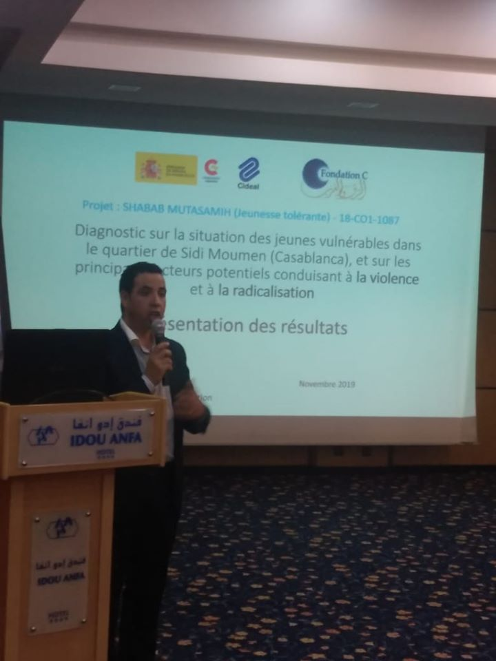 Presenting the findings of a diagnostic study on the factors of conflicts and radicalization of young people – Casablanca