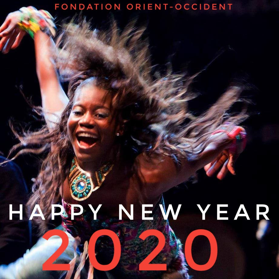 Wishing you happy new year; Fondation Orient-Occident's staff.