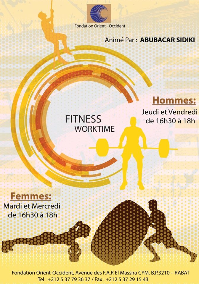 Fitness course at the Fondation Orient-Occident of Rabat