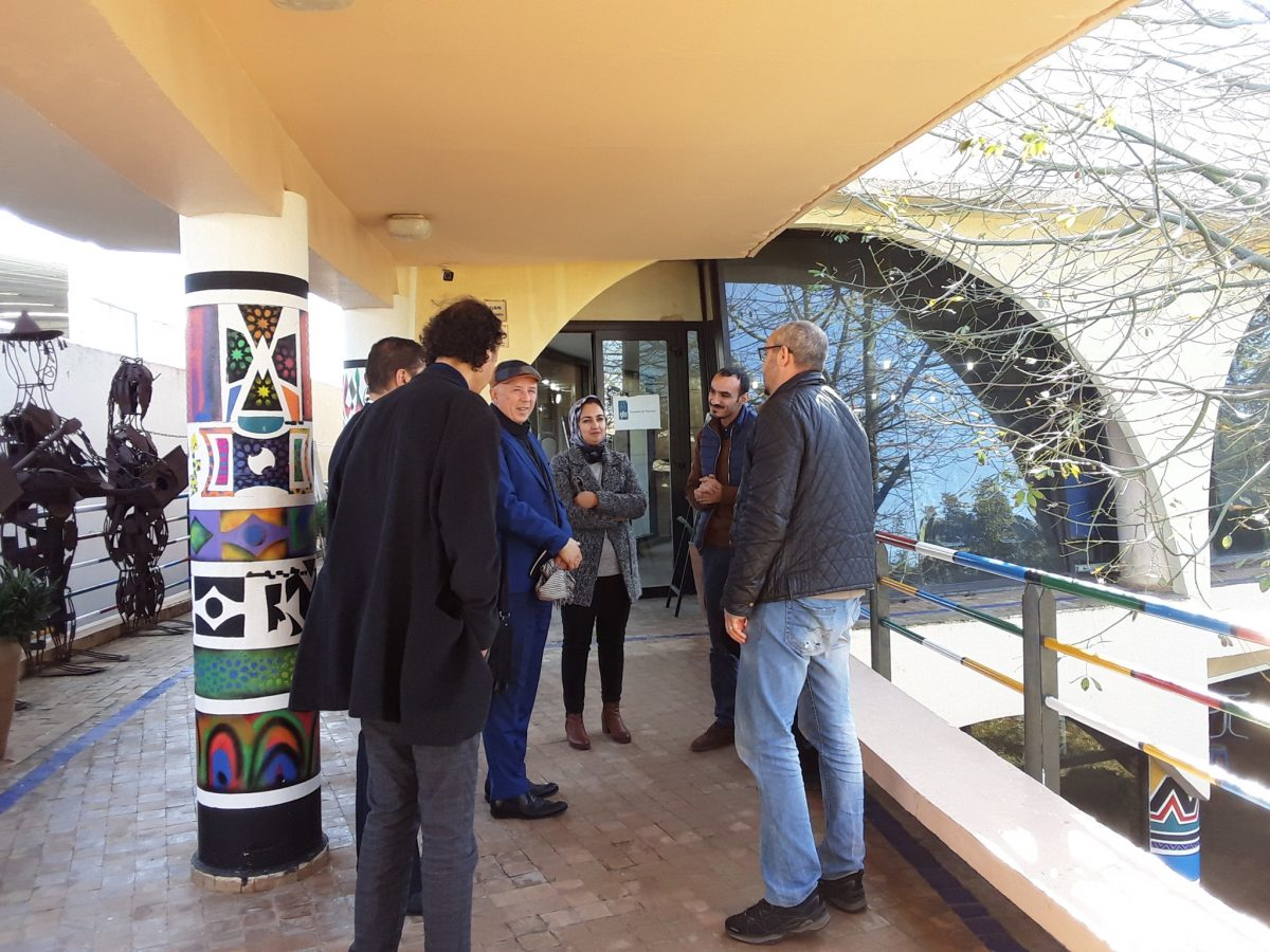 The UNHCR representative, François Reybet-Degat, visits the Fondation Orient-Occident of Rabat