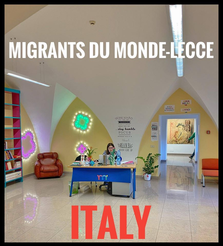 "Starting up the embroidery and couture workshop ""Migrants du Monde"" in the city of Lecce, Italy. Partners: Arci Lecce"