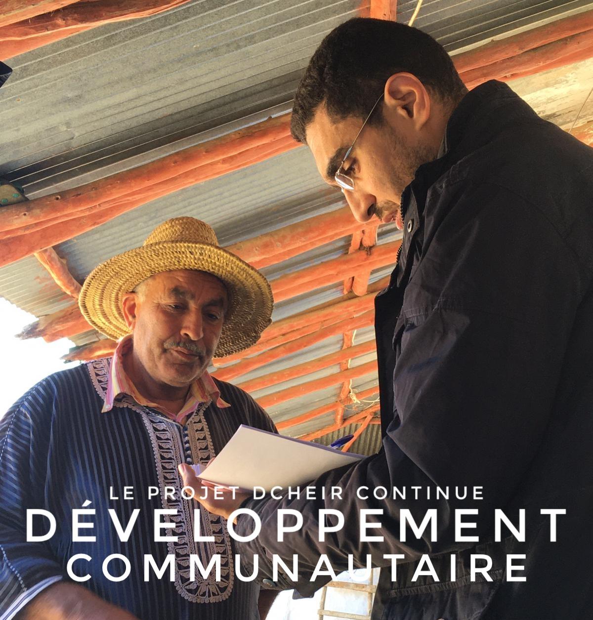 Développement Communautaire – Le projet Dcheir continue