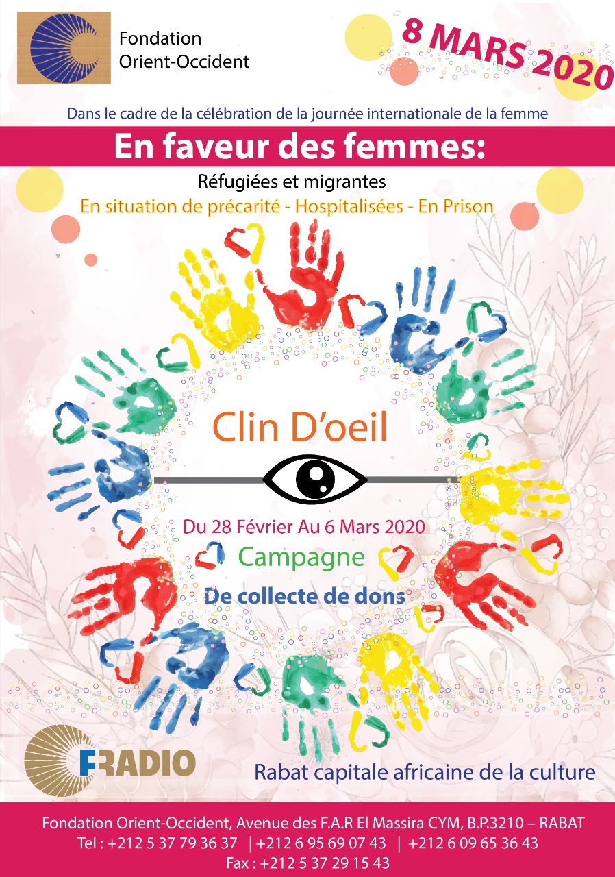 """""""Clin D'Oeil"""", campaign to collect donations for refugee and migrant women"""