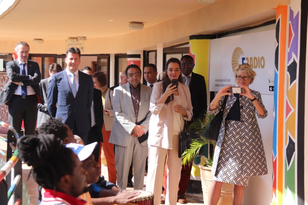 The Dutch ambassador to Morocco visits the Fondation Orient-Occident of Rabat