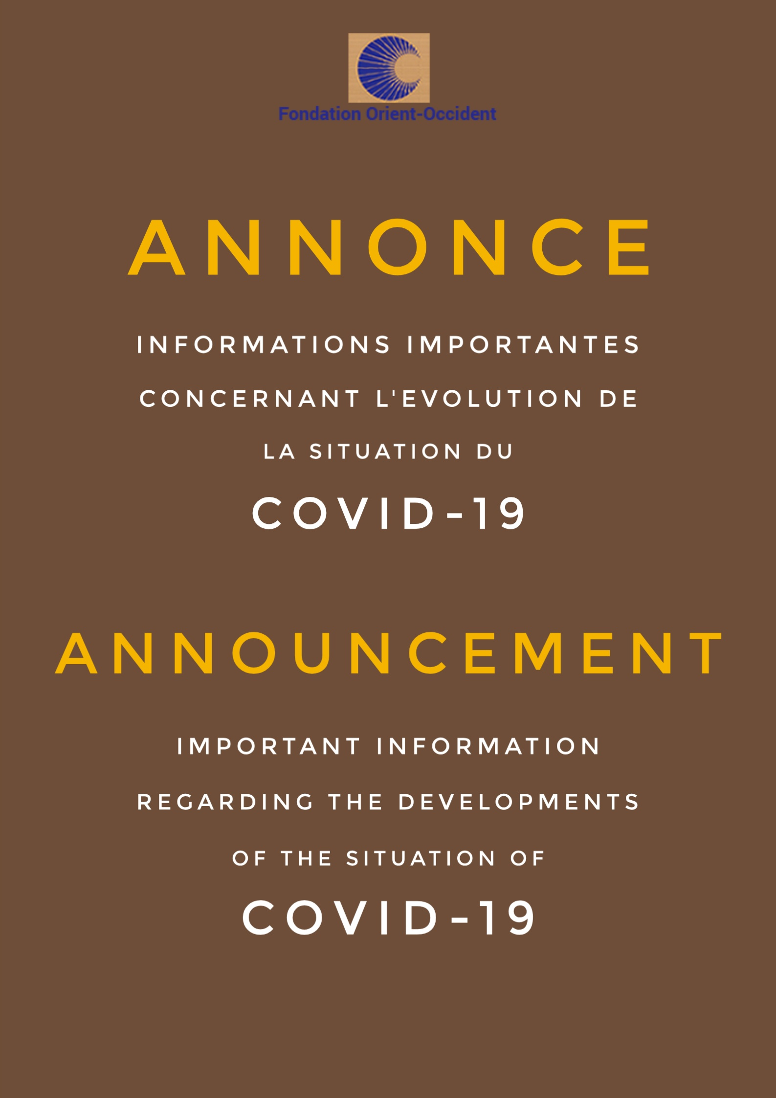 ANNONCE – Informations importantes et contacts d'urgence – Distribution alimentaire – F radio