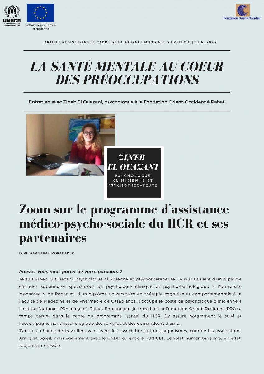 Entretien avec lapsychologue clinicienne Zineb el Ouazani – ALLO PSYFOO