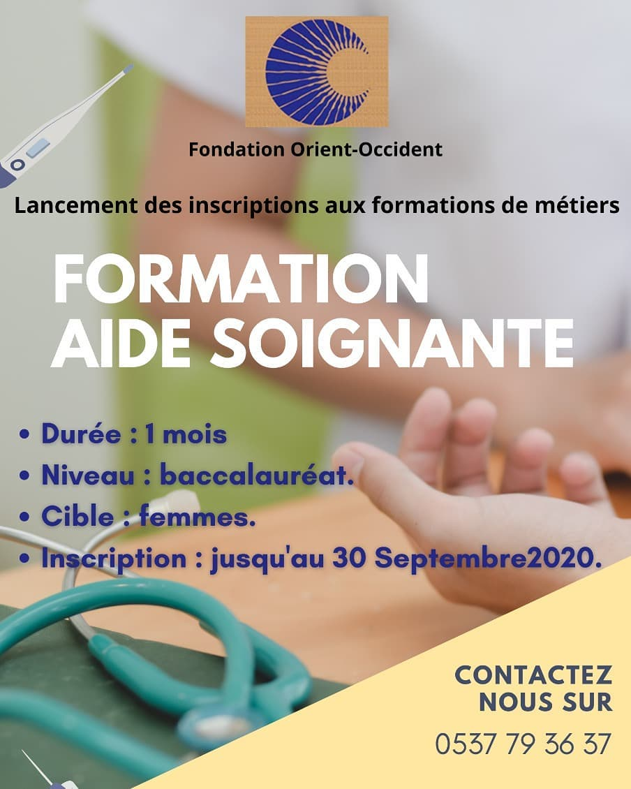 Nursing assistant training at the Fondation Orient-Occident