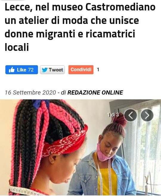 The Italian press talking about the project Migrants du Monde in the city of Lecce – Italy.