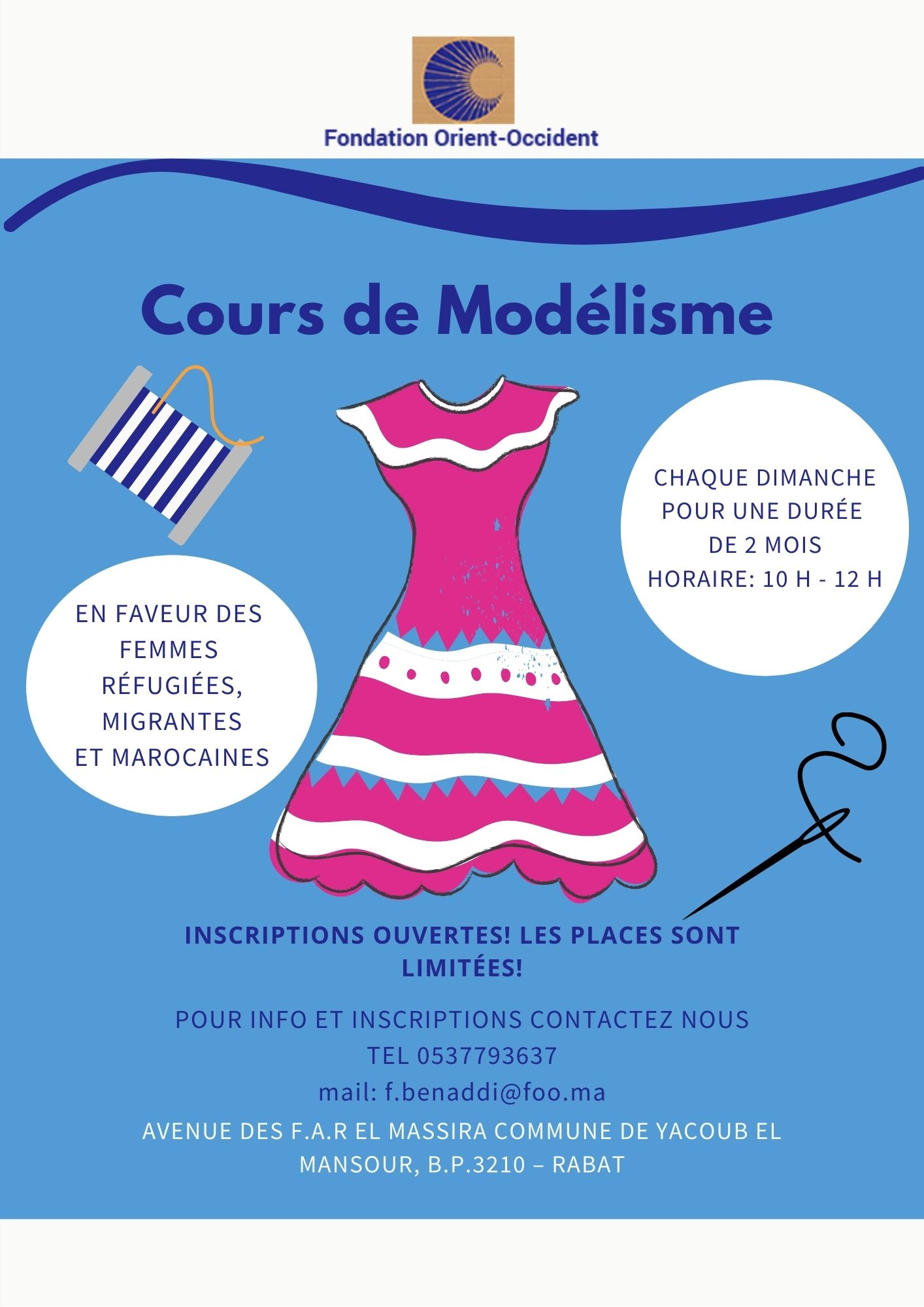 Cours de Modelisme à la Fondation Orient-Occident de Rabat