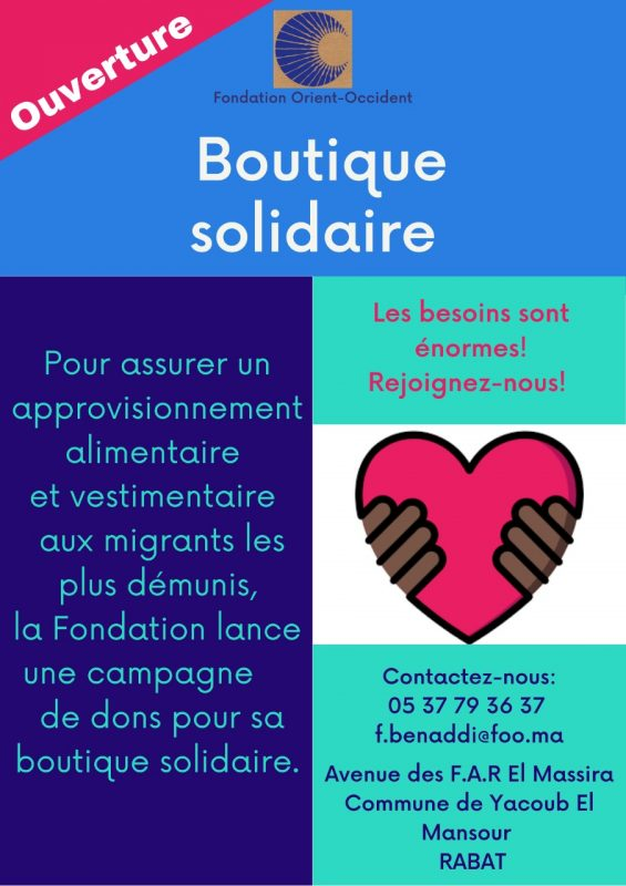 Boutique Solidaire – Opening of a Solidarity room – Call for Donations