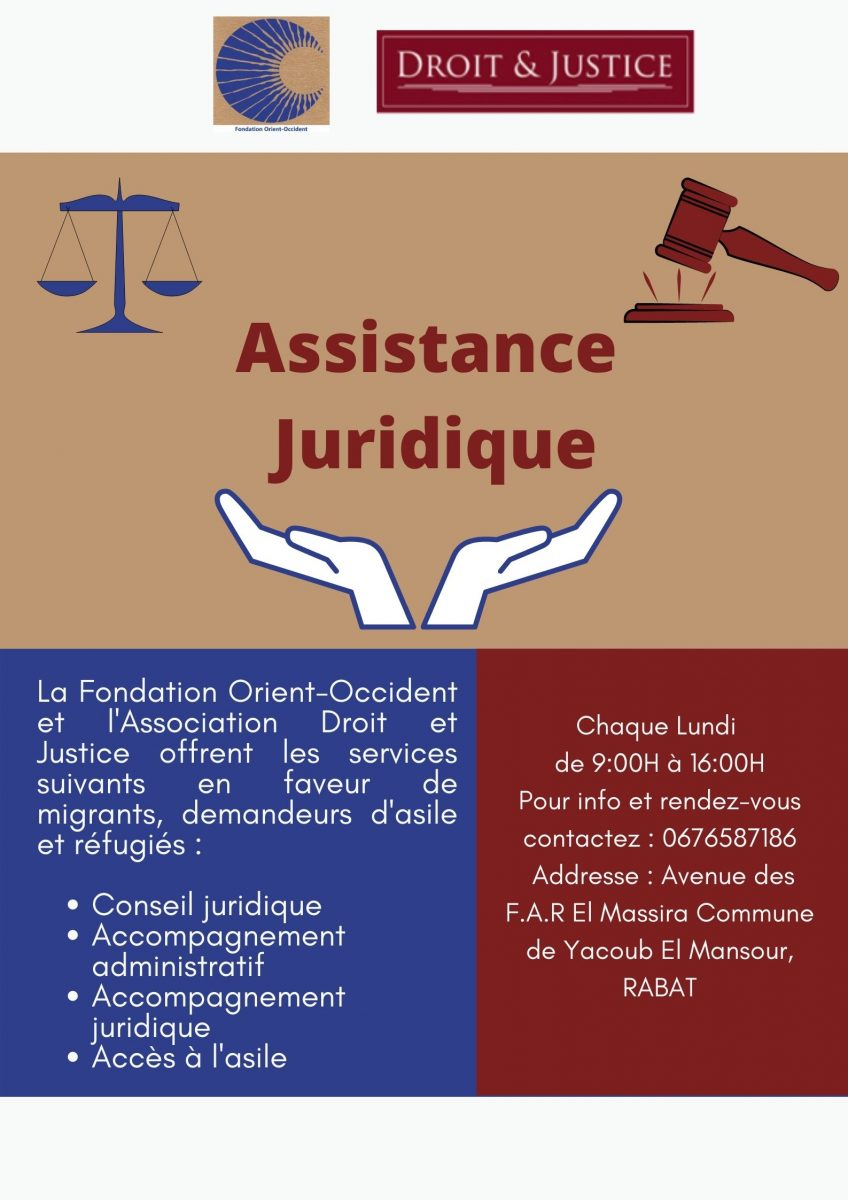 Legal assistance at the Fondation Orient-Occident of Rabat