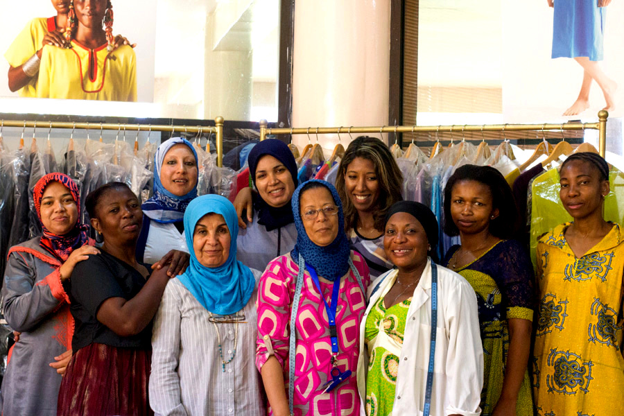 Migrants du Monde – Atelier of embroidery and couture