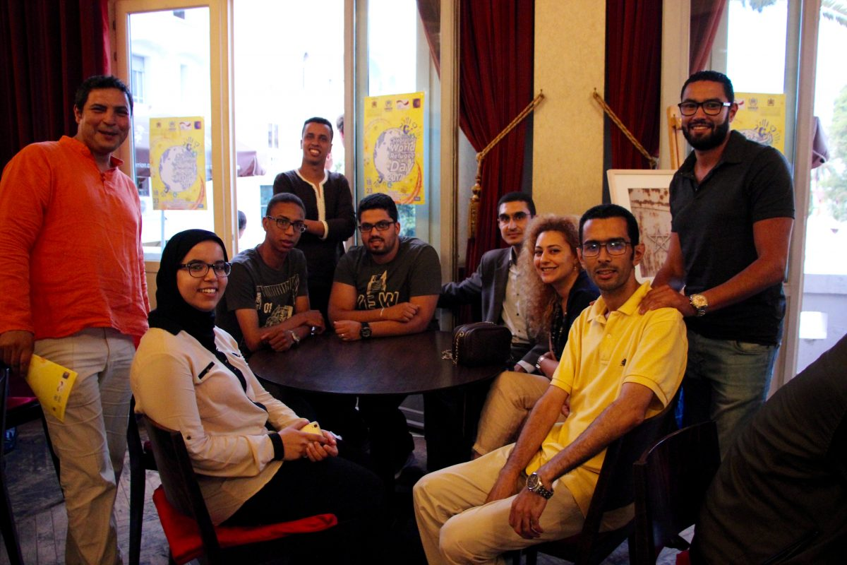 The FOO's team at the Refugees week in Rabat