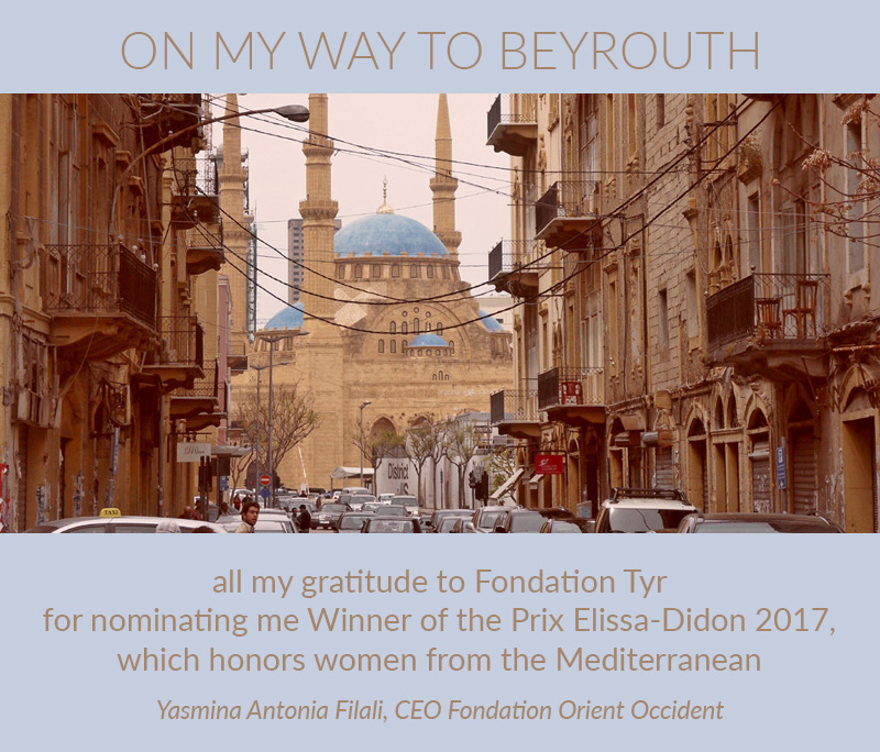 Yasmina Filali is winner of the 2017 Elissa-Didon prize awarded at the FORUM VI in Beyrouth