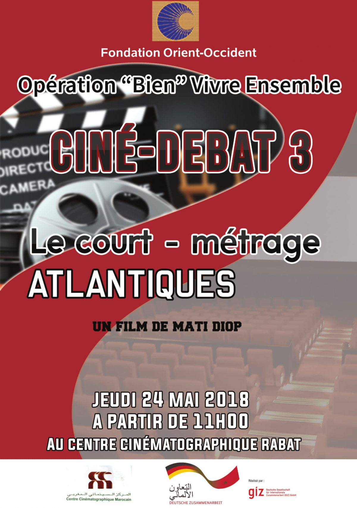 """Projection of the short film """"ATLANTIQUES"""" – Thursday the 24th of May 2018"""