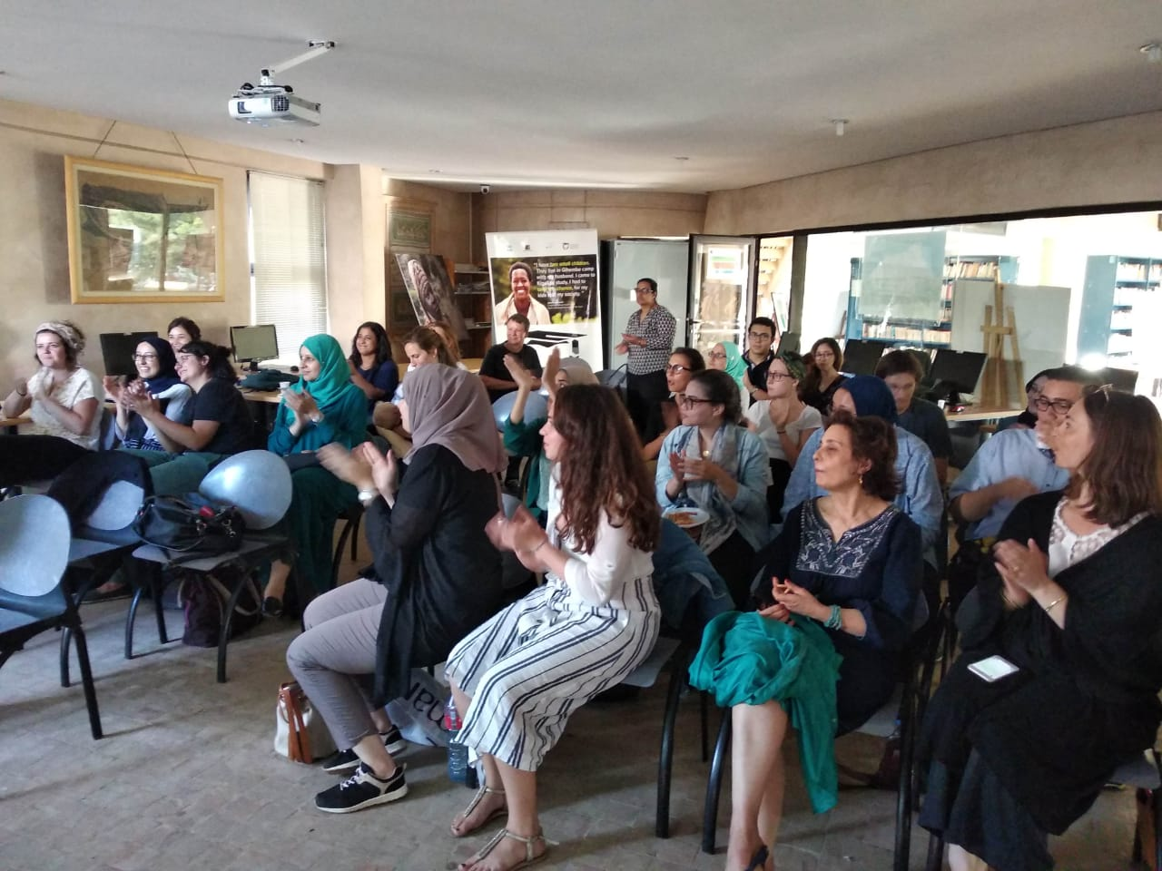 Film projection followed by debate with EGE – Rabat University's summers school students – Photogallery