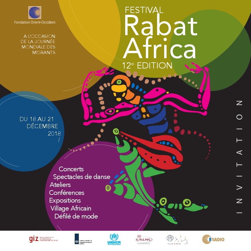 We are happy to invite you to the 12th Edition of the Festival Rabat Africa from the 18th to the 21st of December! Read the program here, and don't forget that entry to all the events is free!