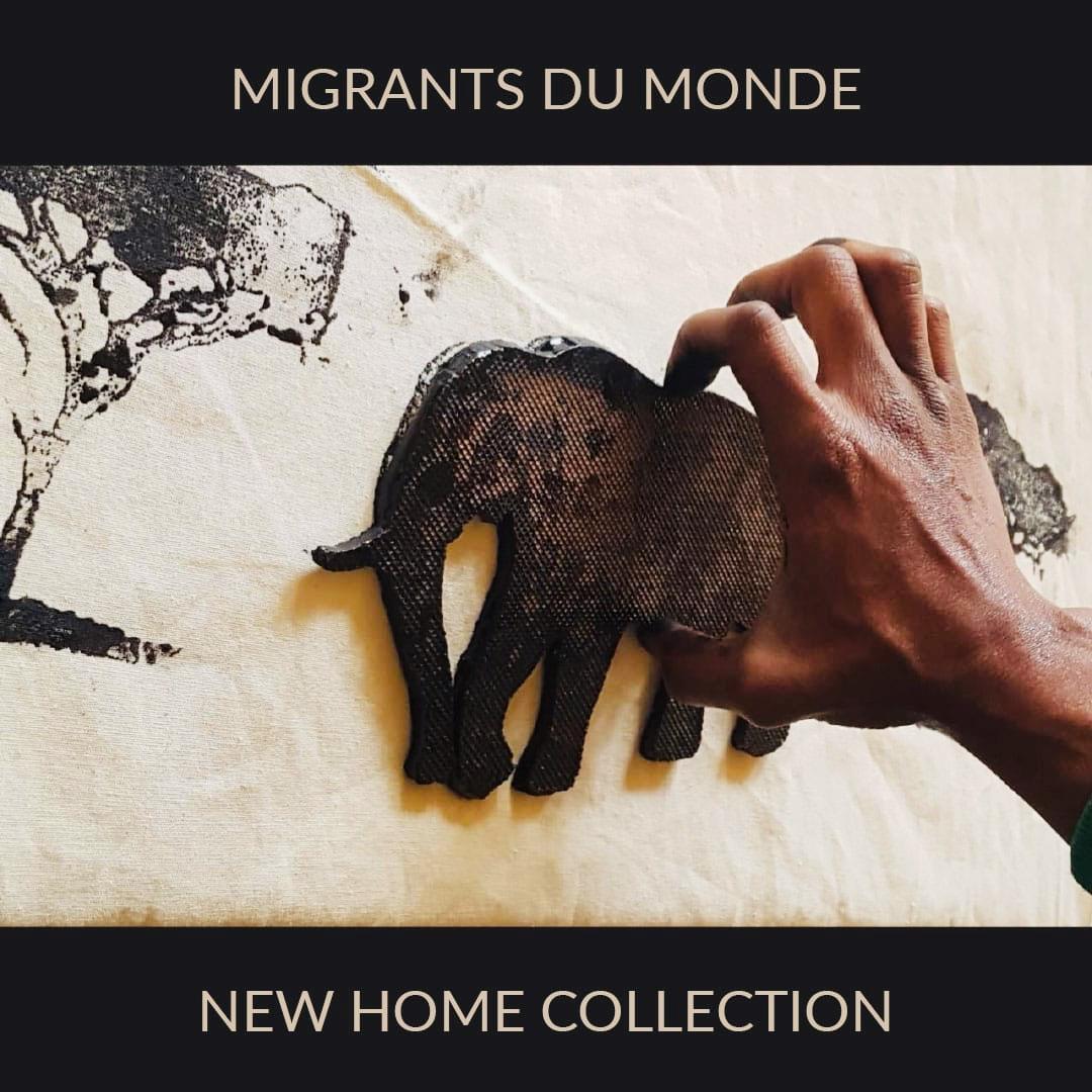 Nouvelle collection maison pour rideaux et coussins par Migrants du Monde à Rabat
