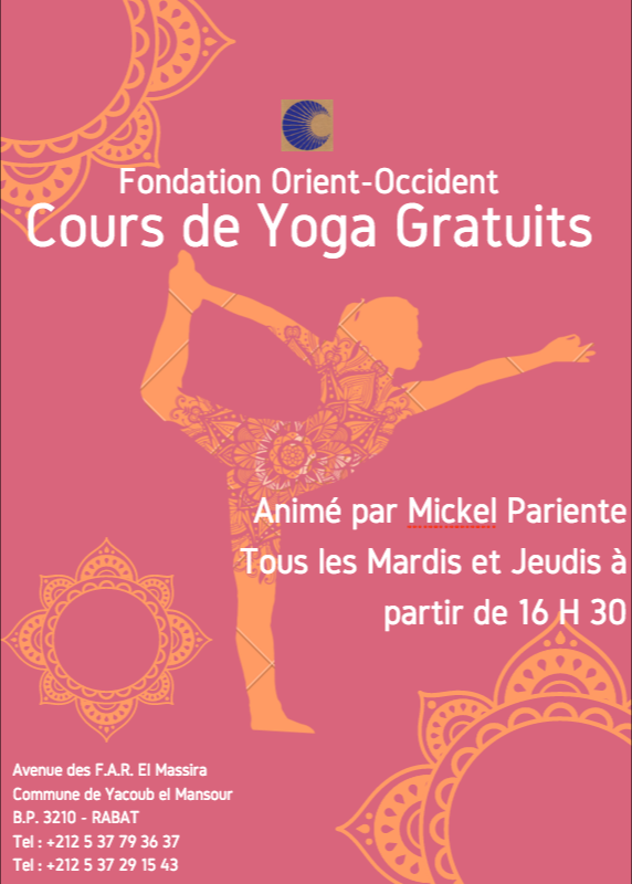 Free Yoga classes every Tuesday and Thursday at the Fondation Orient-Occident