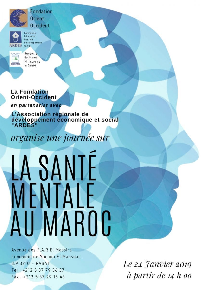 Thematic day: mental health in Morocco – 24 January from 2 pm onwards at the FOO of Rabat