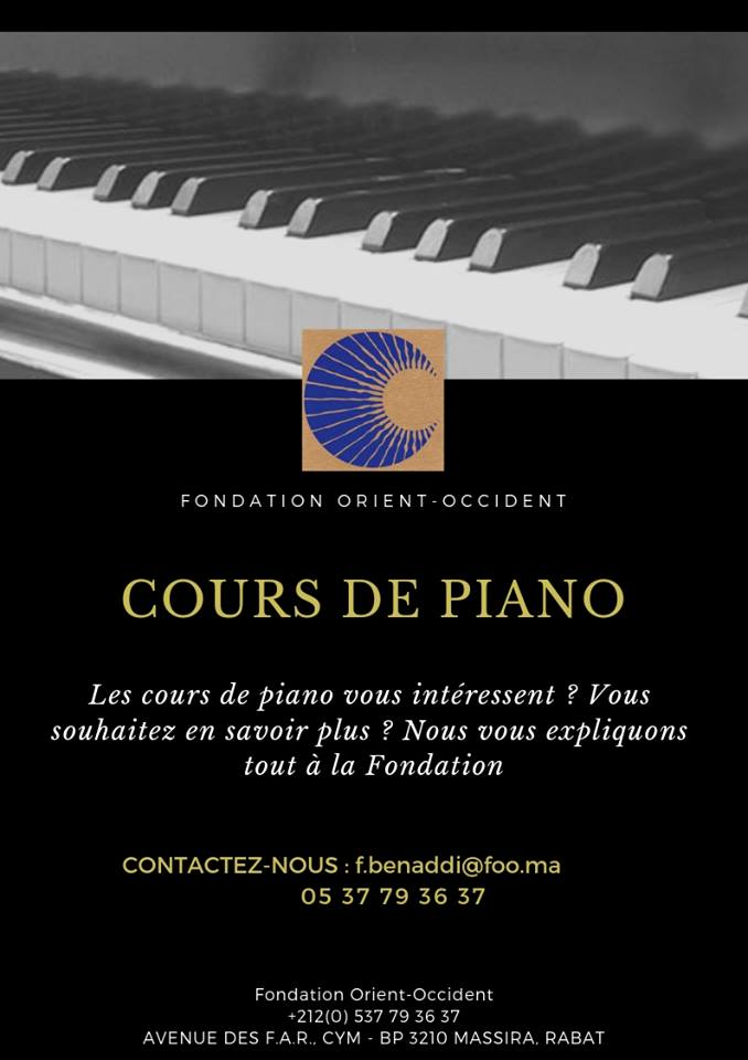 Coming soon: piano lessons at the Foundation of Rabat – for kids and adults