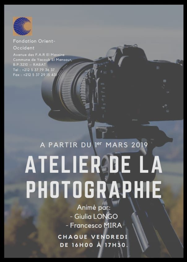 Free photography workshop at the Fondation Orient-Occident of Rabat – every Friday