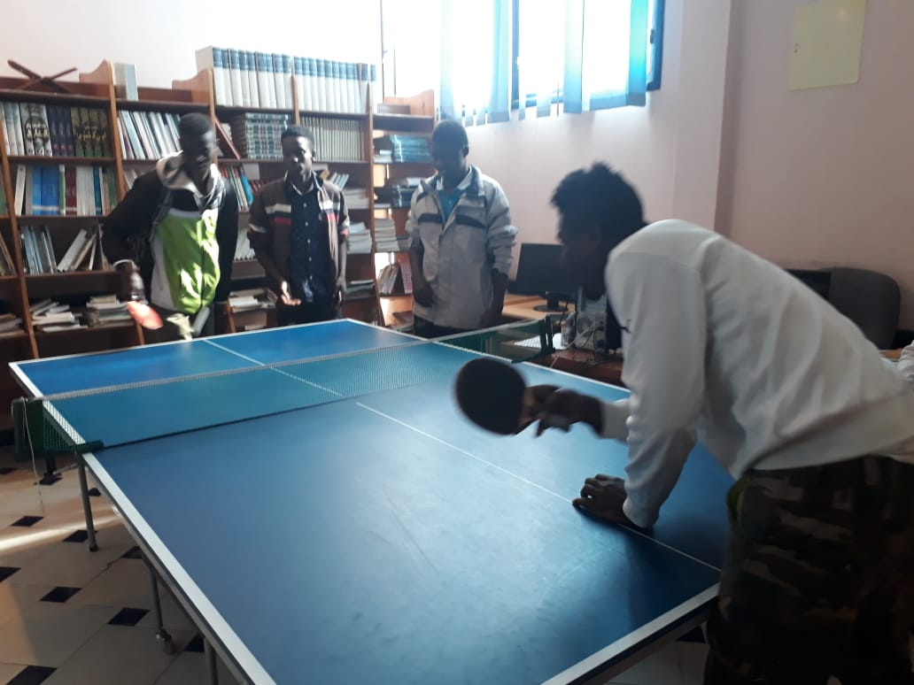 Games workshop for migrant minors at the Fondation Orient-Occident in Oujda