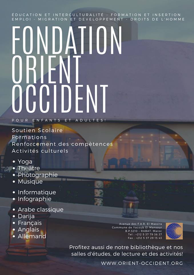 Don't forget all the activities that the Foundation Orient-Occident organises and offers!