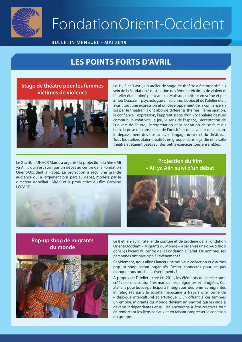 Discover the newsletter of May