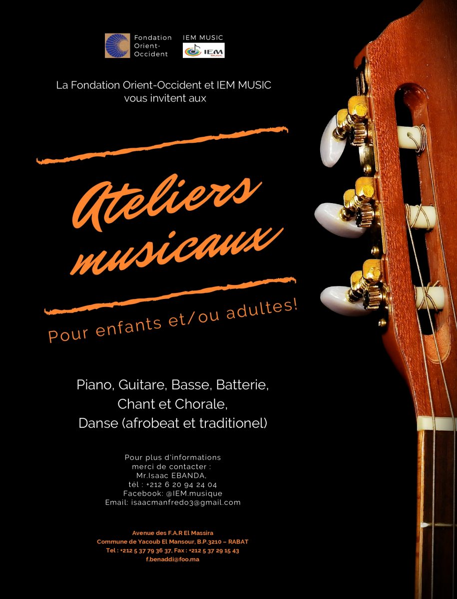 Workshops of music at Fondation Orient-Occident, in partnership with IEM